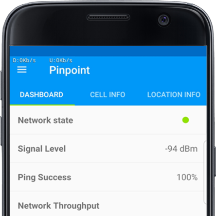Pinpoint app dashboard